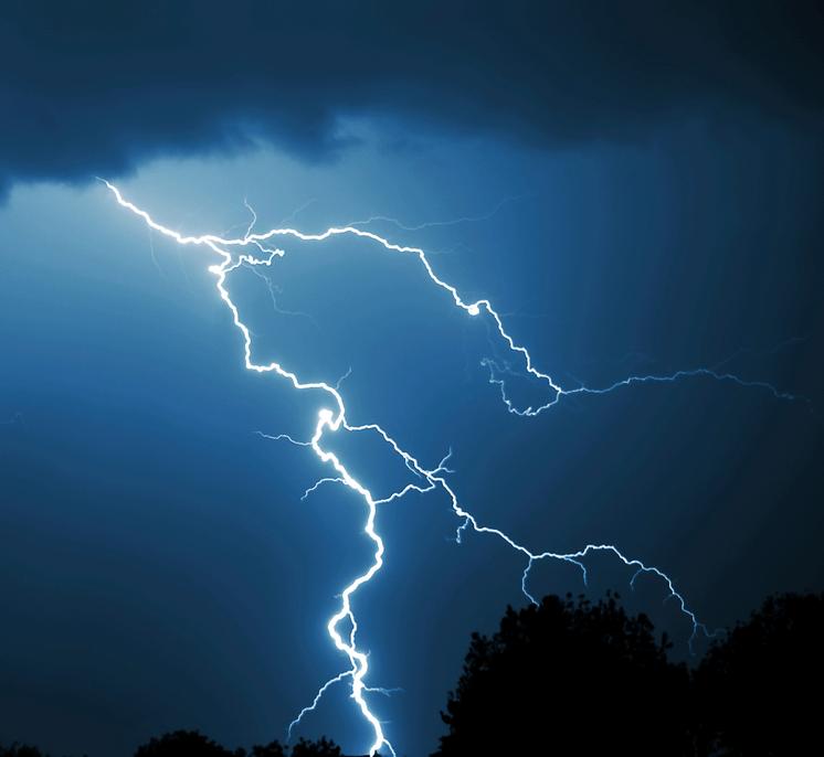 lightning dark night sky