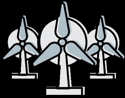66403 wind power line art